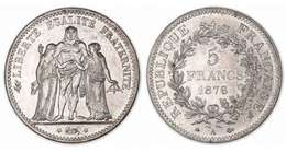 Pièce 5 Francs Hercule Argent 1876 - France
