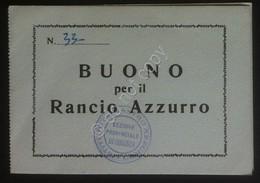 Istituto Nazionale Nastro Azzurro 1° Raduno Calabria 1962 - Buono Pasto Timbrato - Vecchi Documenti