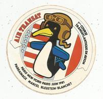 Autocollant , Aviation ,AIR TRANSAT ,1 ére Course Transatlantique En Avion,1981 , Paris-New York-Paris - Aufkleber