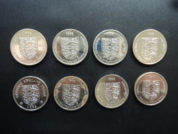 7 THE OFFICIAL ENGLAND SQUAD MEDAL COLLECTION 1998 + 1 OFFICIAL ENGLAND SQUAD 1996 * - Altri