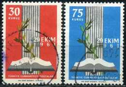 TURKEY 1961 - Mi. 1825-26 O,  Inauguration Of The New Parliament - 1921-... Republik