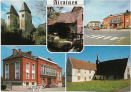 D80 - AIRAINES - TOURS DU DUC DE LYUNES/MOULIN A EAU/PLACE D L'HÔTEL DE VILLE/EGLISE NOTRE DAME-MULTIVUES - Autres Communes