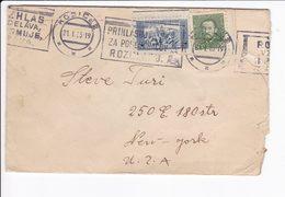 Cecoslovacchia Czechoslovakia 1935 Postal Cover Košice - Cecoslovacchia