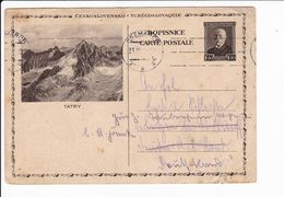 Cecoslovacchia Czechoslovakia 1921 Postal Stationery Tatry Kežmarok - Interi Postali