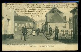 CPA  WERVICQ   LE PONT FRONTIERE   W20 - Autres Communes