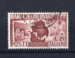 Italia :  14a Fiera Del Levante A Bari - Usato   Del  21.08.1950 - 6. 1946-.. Repubblica
