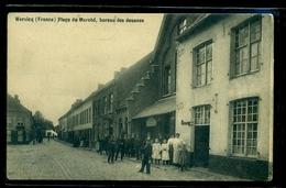 CPA  WERVICQ   PLACE DU MARCHE  BUREAU DES DOUANES   W20 - Autres Communes