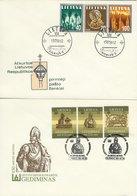 Lithuania 2 Covers Used 1991.   H-1590 - Lituanie