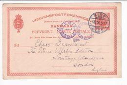 Danmark Denmark 1906 Ribe Postal Stationery Brevkort 10 Ore Chess - Interi Postali