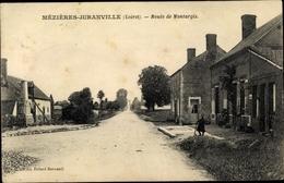 Cp Mezieres Juranville Loiret, Route De Montargis - France