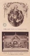 Ancienne Image Pieuse Religieuse Etoffe Ayant Touché Aux Reliques Du Saint Chasse De Saint J.B. De La Salle (1937) - Religion & Esotérisme