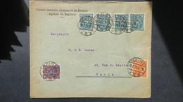 Perforé Sur Lettre SG Alsacienne De Banque Mayence 1923 , Lochung , Perfin Brief Von Mainz Nach Paris 1923 - Allemagne