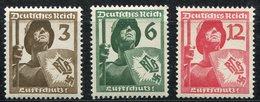 ALLEMAGNE (IIIe REICH) N°591/593 ** TIMBRES DE PROPAGANDE POUR LA DEFENSE ANTIAERIENNE - Allemagne