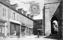 CPA De EGLETONS (Corrèze) - Place De L'église. Edition : Bessot Et  Guionie. N° 3. Circulée En 1906. - Egletons