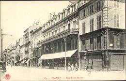 Cp Nancy Lothringen Meurthe Et Moselle, Rue Saint Dizier - Francia