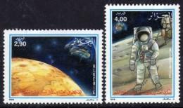 Algérie N ° 955 / 56  XX 20ème Anniversaire De L'homme Sur La Lune.  Les  2 Valeurs   Sans Charnière TB - Algérie (1962-...)