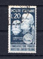 Italia :  Pionieri Industria Laniera Italiana - Usato   Del  11.09.1950 - 6. 1946-.. Repubblica
