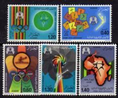 Algérie N ° 685 / 89 XX  3 ème Jeux Sportifs Africains à Alger Les 5 Valeurs Sans Charnière TB - Algérie (1962-...)