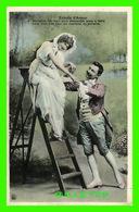 COUPLES - ÉCHELLE D'AMOUR - ACCEPTEZ MA MAIN POUR DESCENDRE JUSQU'À TERRE - ÉCRITE EN 1912 - THE FALICK IMPORT CO - - Couples