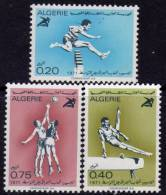 Algérie N ° 532 / 34 XX  Jeux Sportifs Méditerranéens à Izmir Les 3 Valeurs Sans Charnière TB - Algérie (1962-...)