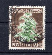 Italia :  Conferenza Europea Del Tabacco A Roma  - £. 20 Usato  -  11.09.1950 - 6. 1946-.. Repubblica
