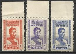 INDOCHINE N° 224 225 226 Bord De Feuille - NEUFS - Indochine (1889-1945)