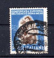 Italia :  Conferenza Europea Del Tabacco A Roma  - £. 55  Usato  -  11.09.1950 - 6. 1946-.. Repubblica