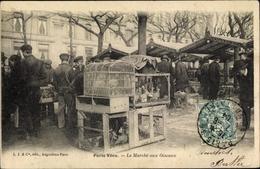 Cp Paris VI., Paris Vécu, Le Marche Aux Oiseaux, Geflügelmarkt - France