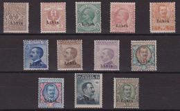 519 Libia ** 1912-15 – Soprastampati Libia N. 1/12 . Cert. Diena. Cat. € 3250,00. MNH - Libia