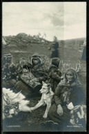 Ref 1279 - Early Ethnic Real Photo Postcard - Lappefamilie & Dog - Lappland - Norway Sweden - Europe