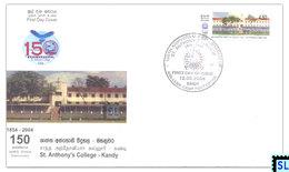 Sri Lanka Stamps 2004, St. Anthony's College, Kandy, FDC - Sri Lanka (Ceylon) (1948-...)