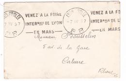 Lettre / Lyon Grolée PP/ 1937 / - 1877-1920: Semi-Moderne