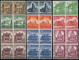 ALLEMAGNE (IIIe REICH) N°675/683 ** EN BLOC DE 4 SECOURS D'HIVER CHATEAUX ET MONUMENTS - Allemagne
