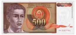 YUGOSLAVIA 500 DINARA 1991 Pick 109 Unc - Yugoslavia