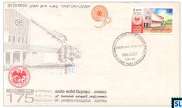 Sri Lanka Stamps 1998, St. John's College, Jaffna, FDC - Sri Lanka (Ceylon) (1948-...)