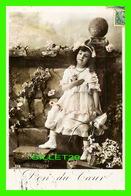 ENFANTS - PORTRAIT D'UNE JEUNE FILLE - DON DU COEUR - CIRCULÉE EN 1909 - - Portraits