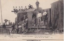 Bataille De La SOMME  --  Pièce De 194 Sur Train - War 1914-18