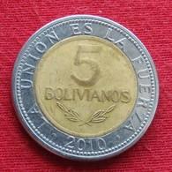 Bolivia 5 Bolivianos 2010 KM# 219  Bolivie - Bolivia