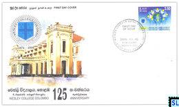 Sri Lanka Stamps 2000, Wesley College, Colombo, FDC - Sri Lanka (Ceylon) (1948-...)
