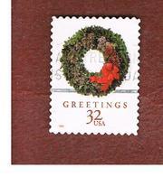 STATI UNITI (U.S.A.) - SG 3519  - 1998 CHRISTMAS: WREATH EVERGREEN  - USED - Used Stamps