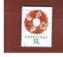 STATI UNITI (U.S.A.) - SG 3521  - 1998 CHRISTMAS: WREATH CHILLI  - USED - Used Stamps