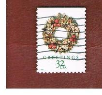 STATI UNITI (U.S.A.) - SG 3520  - 1998 CHRISTMAS: WREATH VICTORIAN  - USED - Used Stamps