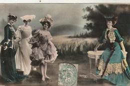 Photo Reutlinger - Théâtre - 4 Femmes - 1297 - Voir Verso - Théâtre