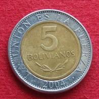 Bolivia 5 Bolivianos 2004 KM# 212  Bolivie - Bolivia