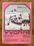 """GRAFICA EDITORIALE 1922  SPARTITO MUSICALE  """"Yvonne """" Di Cherubini-Rulli Copertina Di SINI  ED. F.LLI FRANCHI - Volksmusik"""