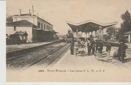 C.P. - SAINT RAPHAEL - LES GARES  P. L. M. ET S. F. - EN 1900 - LESTROHAN - REPRODUCTION - Saint-Raphaël