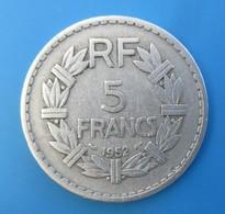France, 5 Francs Lavrillier, 1952, TTB - France
