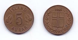 Iceland 5 Aurar 1946 - IJsland
