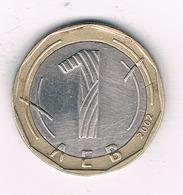 1 LEVA 2002  BULGARIJE /2659/ - Bulgarie