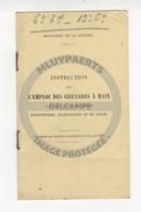 /!\ 9895 - Emploi Des Grenades à Main - 1908 - Livres